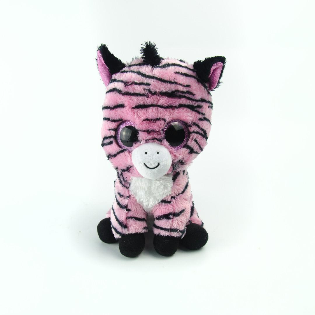 01184f0e0f588 lush Big Glittery Eyes Pink Zebra Pony 9