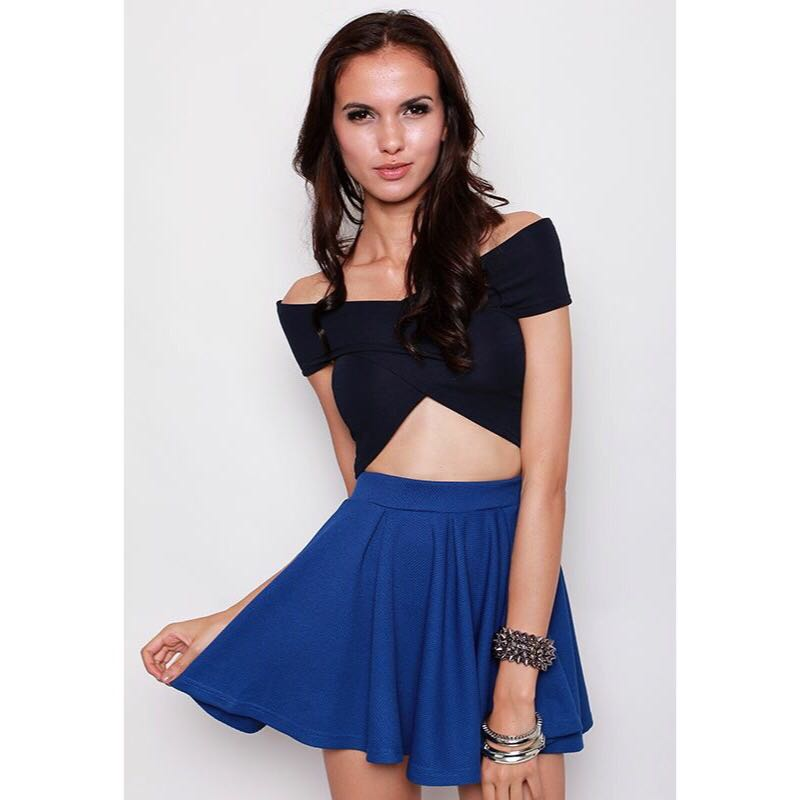 2e2e5d624c1bd MDS Wrap that Cropped Top in Navy