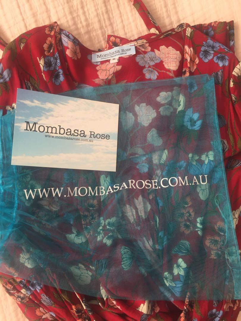 Mombasa Rose Floral Wrap Dress Size XL