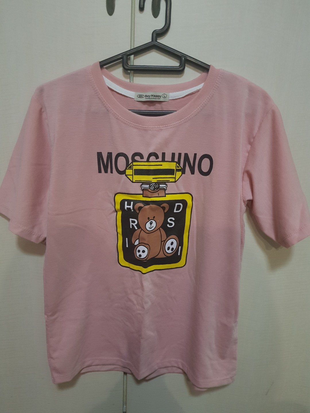 8f610344 Moschino Bear Pink tshirt inspired, Women's Fashion, Clothes, Tops ...