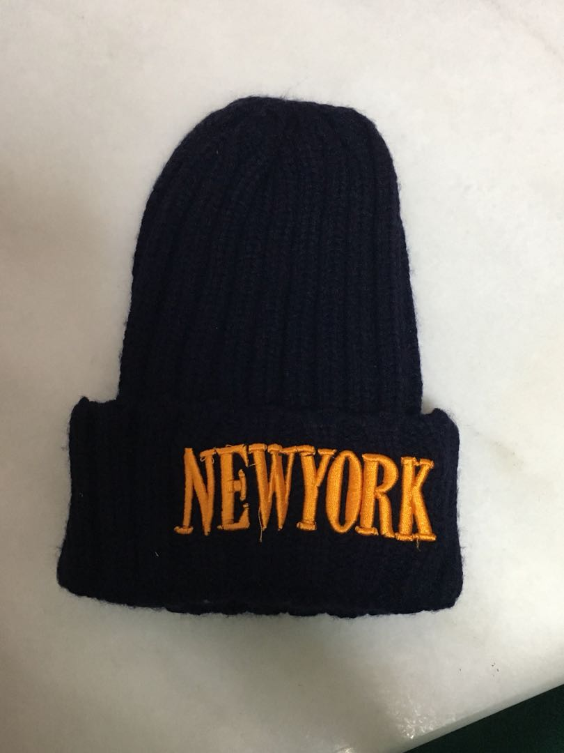 3090c92a9 New York Navy Blue Knit Beanie