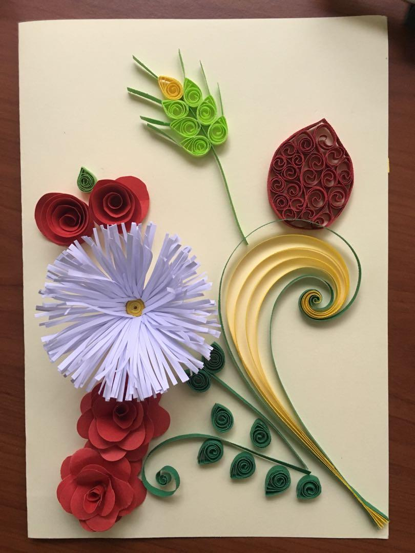 Pleasing Paper Quilling Greeting Card Hand Made Design Craft Personalised Birthday Cards Cominlily Jamesorg