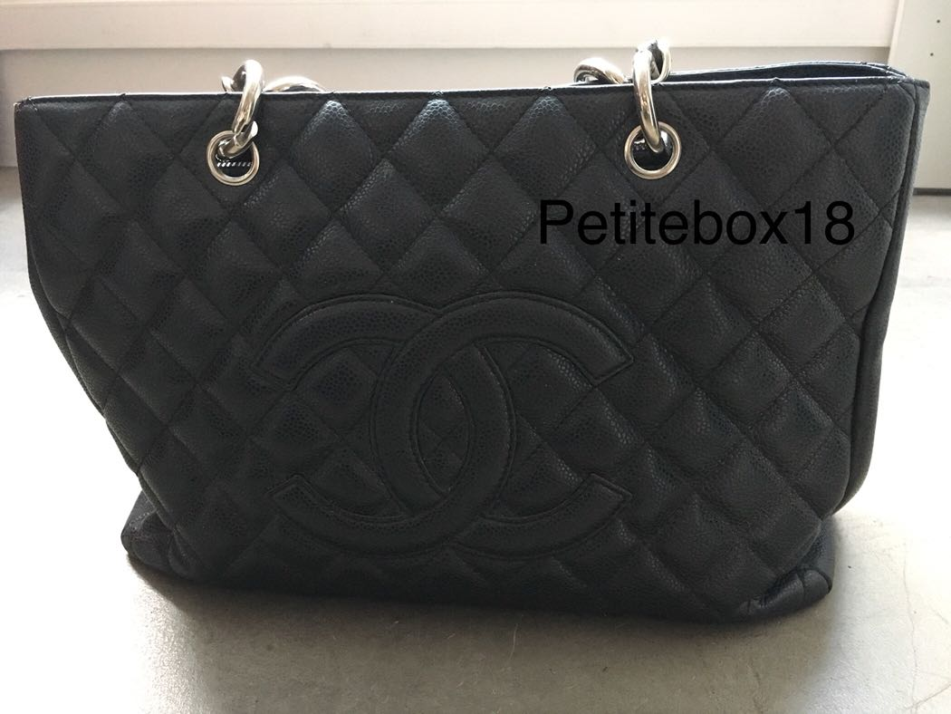 8a8d0249be3cf Preloved Chanel Authentic GST Grand shopping Tote