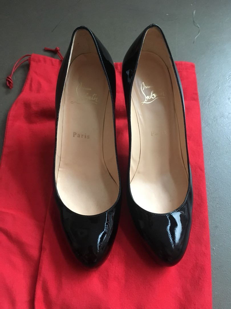 646c611ce Preloved Christian Louboutin Authentic Patent Pumps 39, Luxury ...