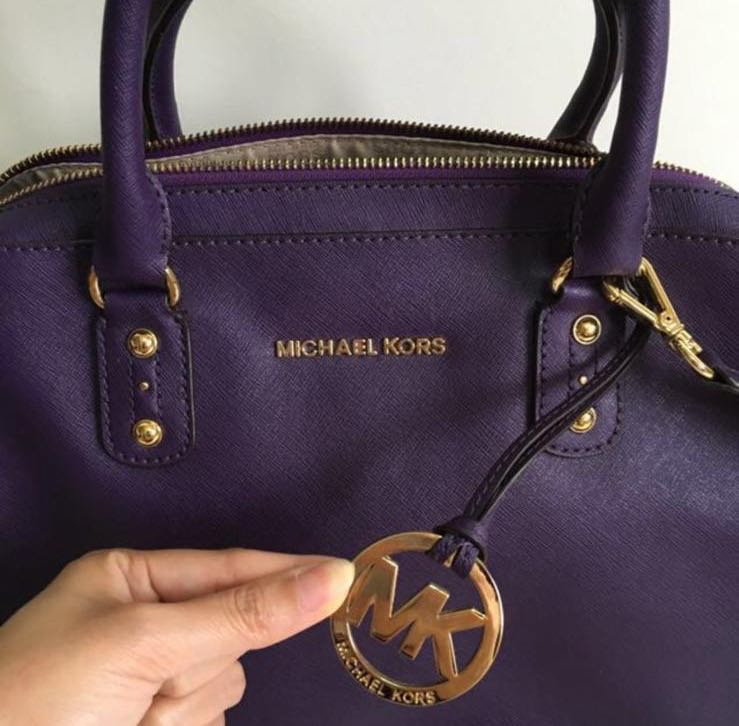 66b3b4cd2e1d Purple Michael Kors Handbag MK Bag with Shoulder Strap