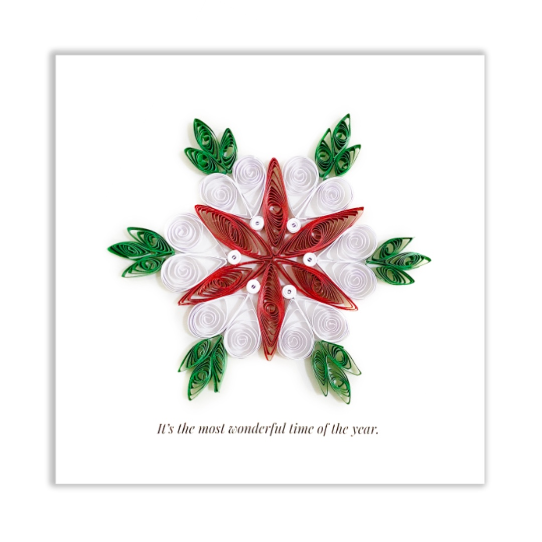 Quilling Paper Christmas Greeting Card Design Craft Handmade