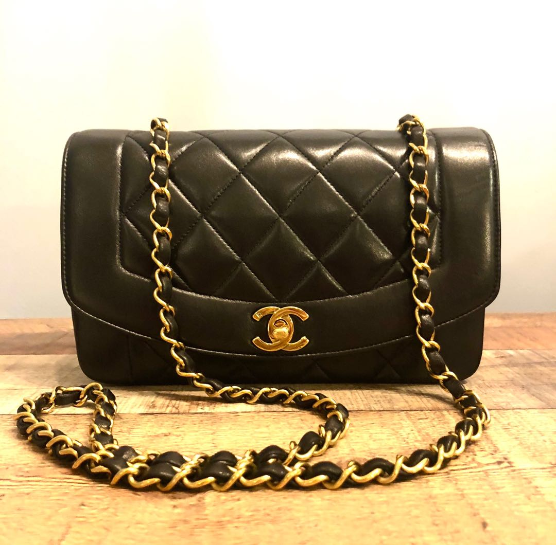 277e88ab23b RESERVED Authentic Chanel 9 Inch Diana Flap Bag with Puffy Quilts ...