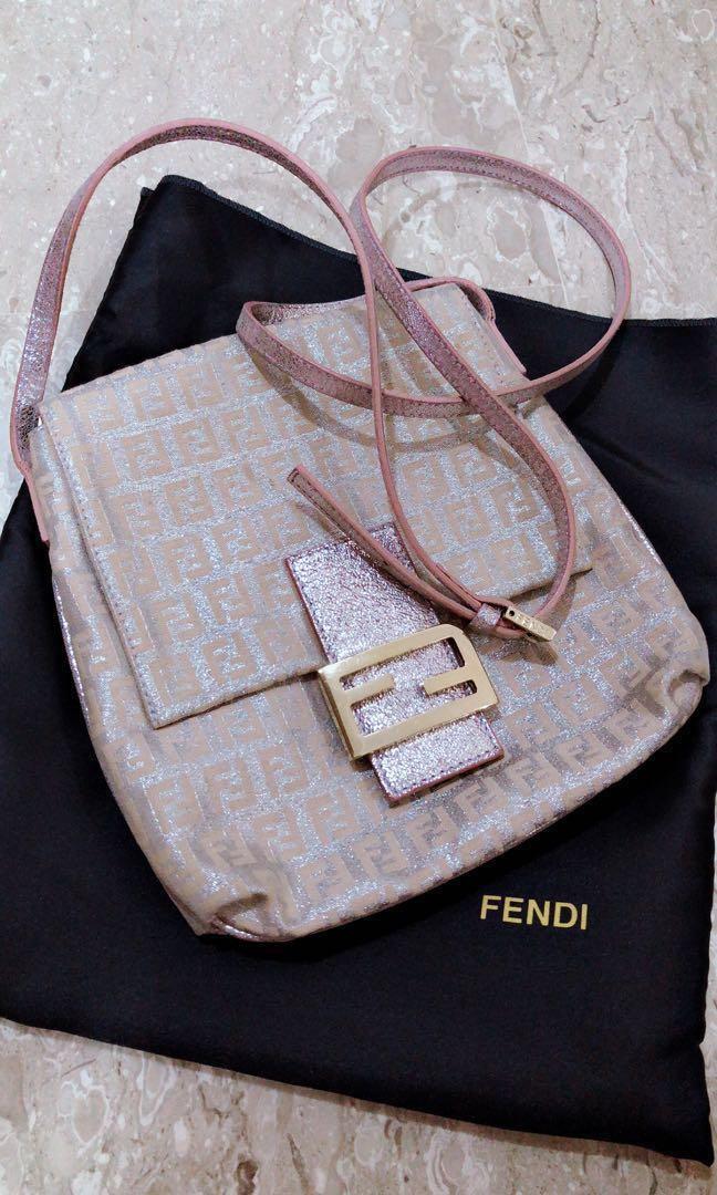 8dc770e06a78 RTP1100 Auth Fendi Zucca Crossbody Bag
