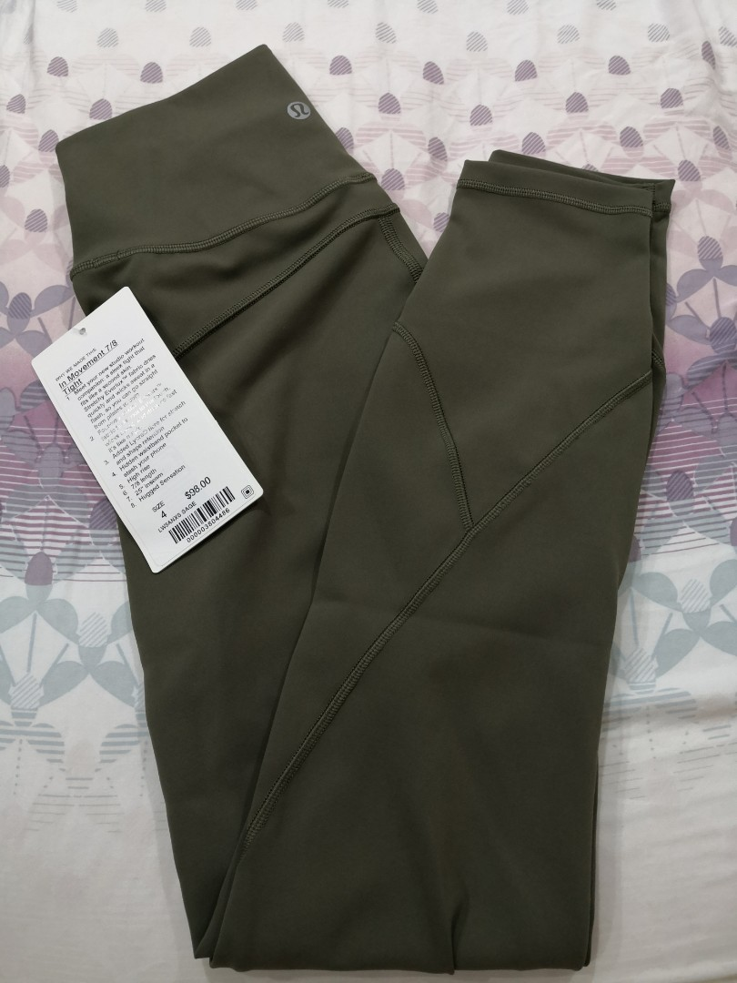 2591a49876c59f Size 4 Brand New With Tag Lululemon In Movement 7/8 Legging Pants ...