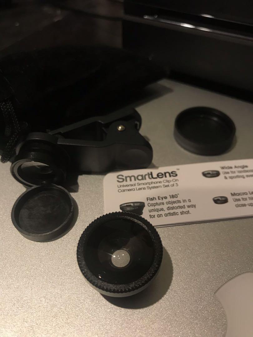 SmartLens universal smartphone clip-on camera lens set of 3