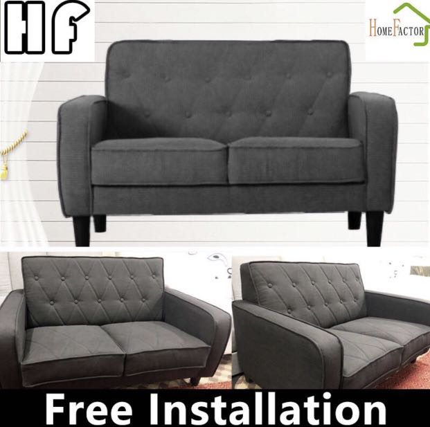 Sofa Cloth Sofa 2 Seater 3 Seater 8040 Grey Furniture Sofas On