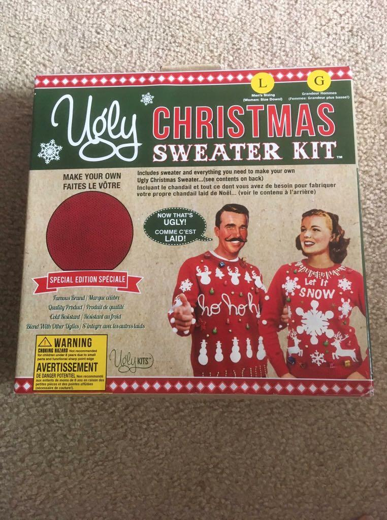 Ugly Christmas Sweater Making Kit with Sweater