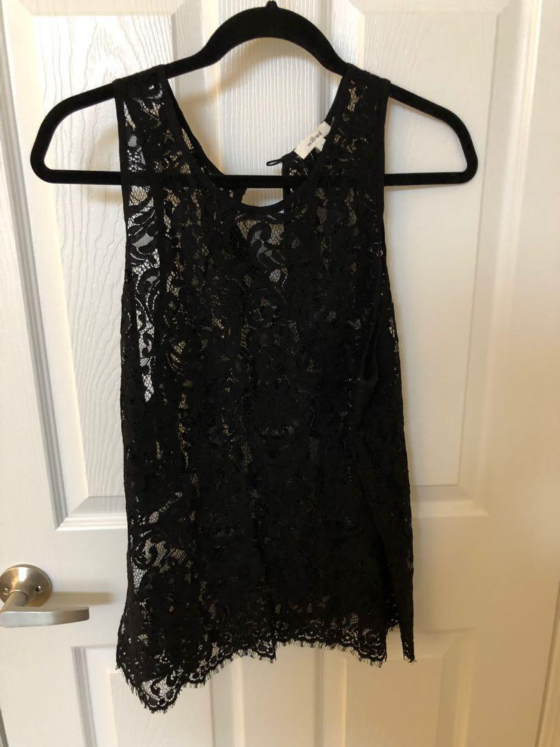 Wilfred Lace Tank in Black