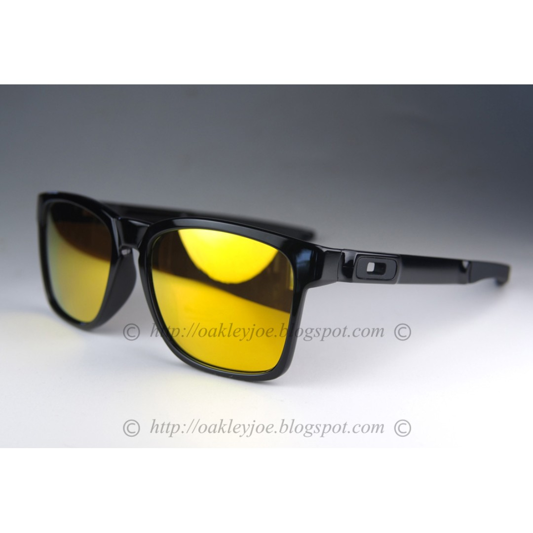 BNIB Oakley Catalyst Asian Fit black + 24k iridium OO9272-04 sunglass  shades c9ee232216