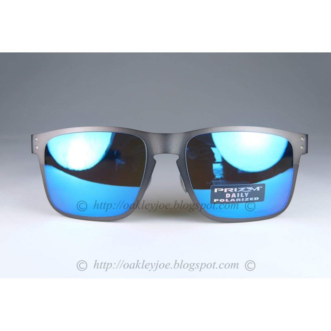 eb310ee560 BNIB Oakley Holbrook Metal gunmetal + prizm sapphire polarized OO4123-0755  sunglass shades