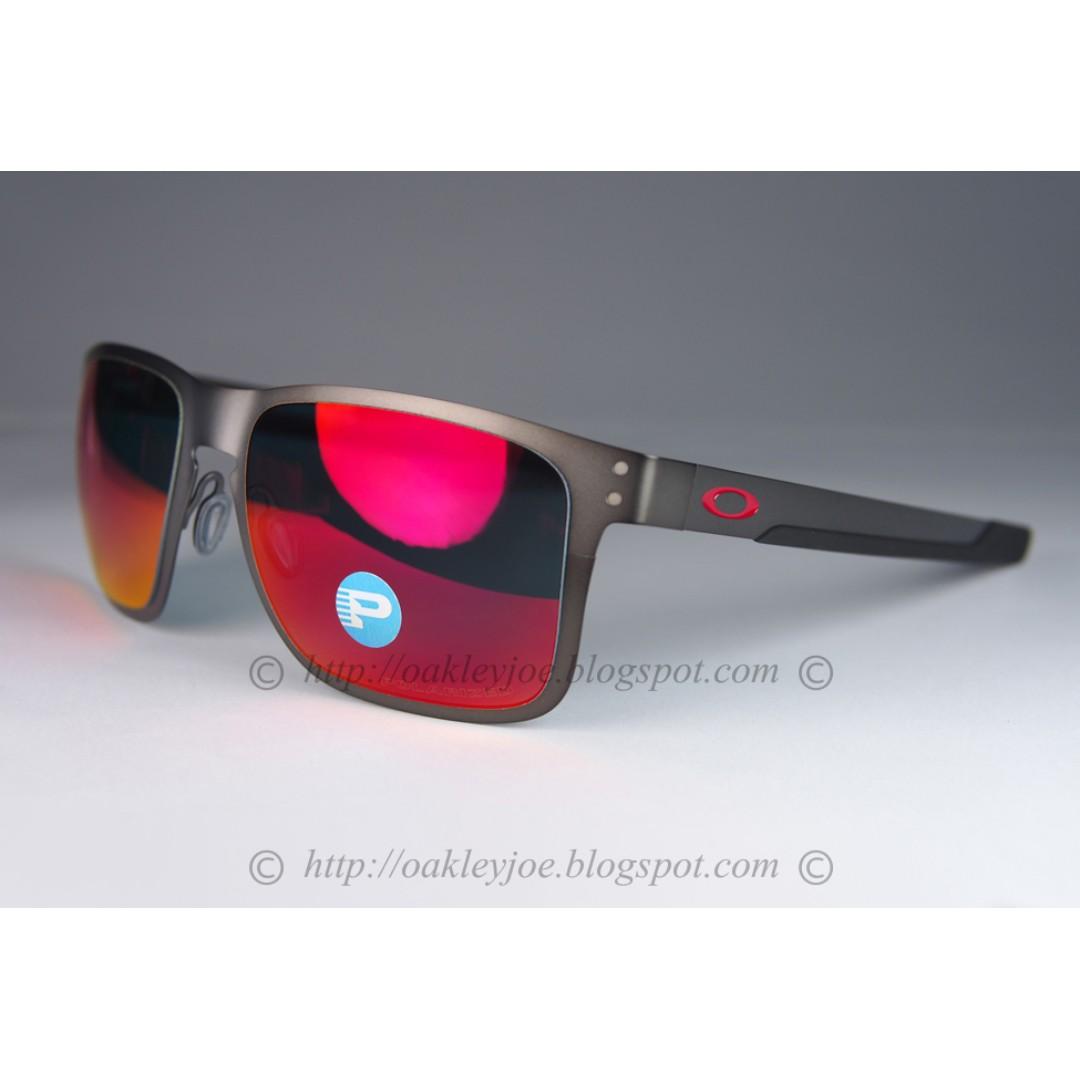 a7372669af BNIB Oakley Holbrook Metal matte gunmetal + torch iridium polarized OO4123-0555  sunglass shades