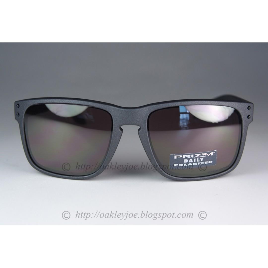 aad45e868d8 BNIB Oakley Holbrook steel + prizm daily polarized oo9102-B5 sunglass  shades