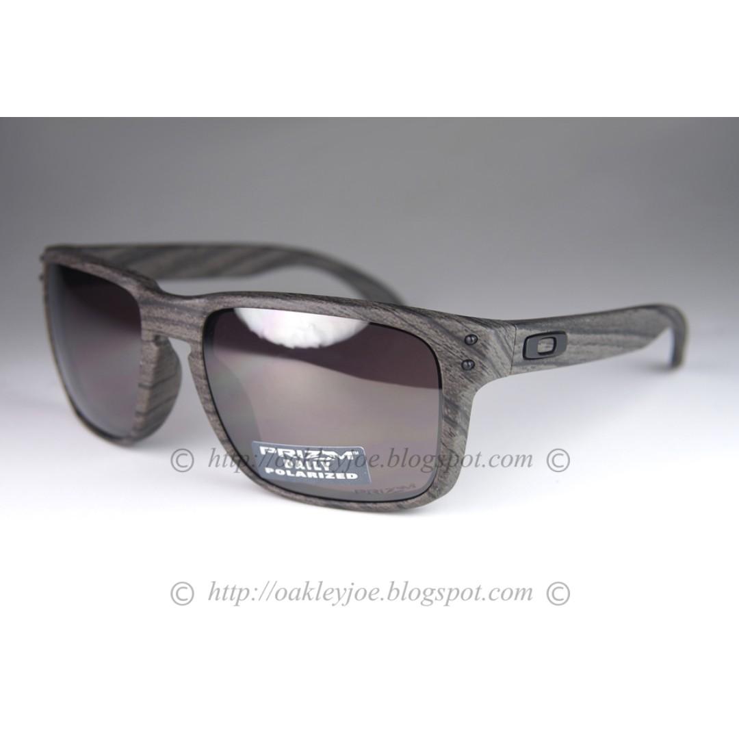 2b5a16c15e659 BNIB Oakley Holbrook woodgrain + prizm daily polarized oo9102-B7 sunglass  shades