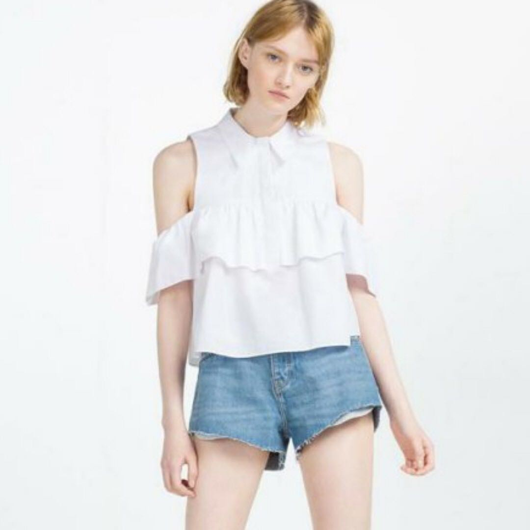 c3a3c8754cc ZARA INSPIRED OPEN SHOULDERS TOP, Women's Fashion, Clothes, Tops on ...