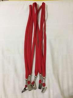 🚚 (全新)識別證掛繩5條紅色