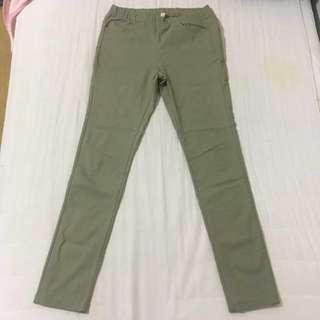🚚 (二手正品)PAZZO軍綠色緊身長褲 #一百元好物