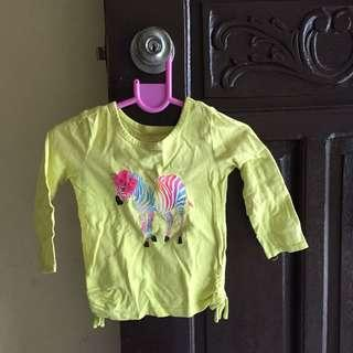 Yellow Green Longsleeve Top 18-24m
