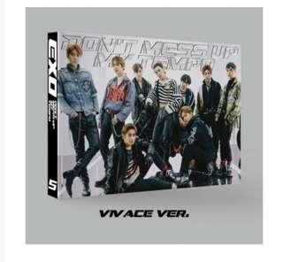 [Preorder] [Limited Edition] EXO 5th Album- Dont Mess Up my Tempo (Vivace Version) CD + 2Poster