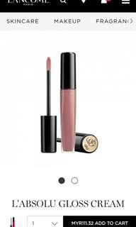 combo 4 lancome lip gloss cream lipstick