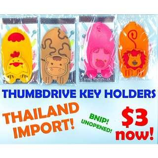 Key Holder (Thumbdrive/Flashdrive/Key Mini Pouch, Animal Designs) *2019 Year Special Offer, Limited Stock less than $4 now!* BNIP!*