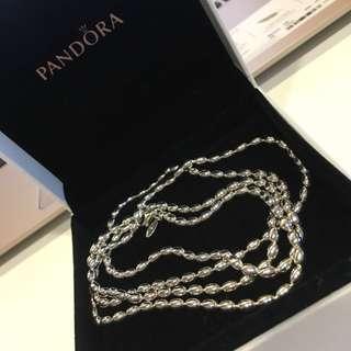 Pandora Silver Bead Necklace