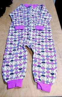 童裝類: 貓頭鷹圖案連身睡衣
