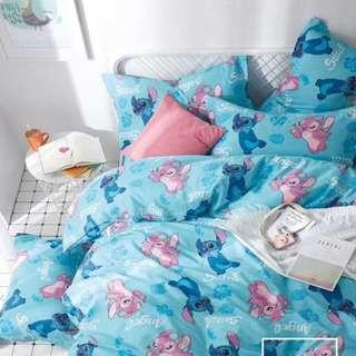 【預購】史迪奇:棉質*床單/床包/床裙組(規格:單人/標準/加大)_免運。