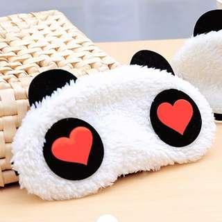 New 1x Panda Face Eye Travel Sleeping Mask Blindfold Christmas Gift White+Black