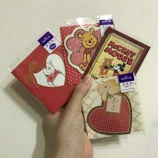 Hallmark迪士尼小熊維尼/米奇/熊 萬用迷你立體小卡片