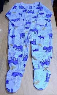 童裝類: 藍色小狗圖案連身睡衣