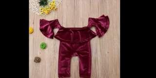 Velpet set Baju bayi umur 1-3 th