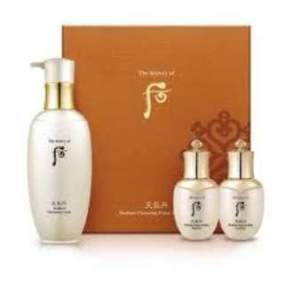 🚚 The History of Whoo Cheongidan Hwa Hyun Cleansing Foam Special Set