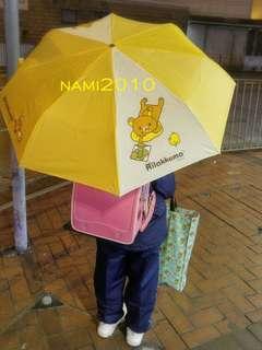 授權正版 鬆弛熊縮骨遮 雨傘 Rilakkuma 黃色雨傘