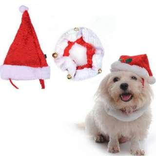 Santa hat and collar for Pets