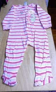 童裝類: CLEMENT 小貓刺綉圖案連身睡衣