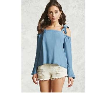 🚚 BNWT Forever 21 Contemporary Open-Shoulder Top