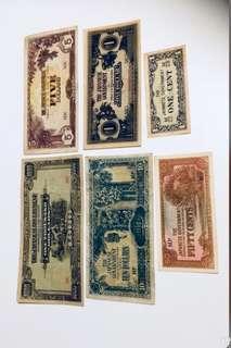 Clearance: WW2 Malaya Old Currencies