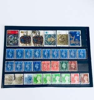 Mixed Old UK Stamps