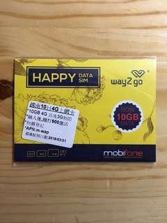 mobifone4G 越南 10 日無限上網卡