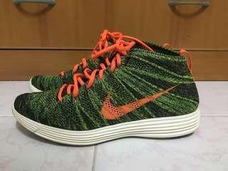 US10.5 Nike Lunar Flyknit Chukka Green/Black-Orange 554969-080 #噢賣鞋