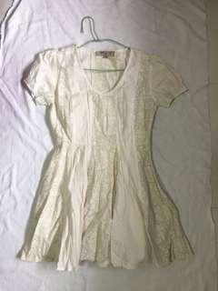 asos petite cream dress