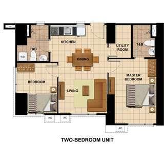 For Assume Balance 2 Bedroom Condo at Avida Towers Vita Vertis North in Edsa Quezon City beside Trinoma