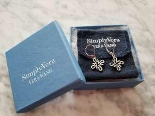 VERA WANG SIMPLY VERA Sterling Silver Logo Earrings