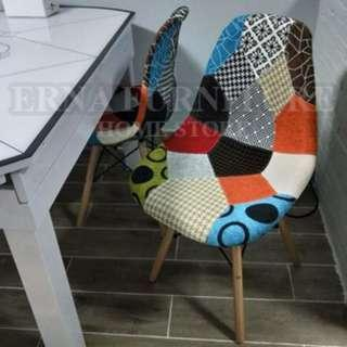 DSW colorful Patched Dinning chair