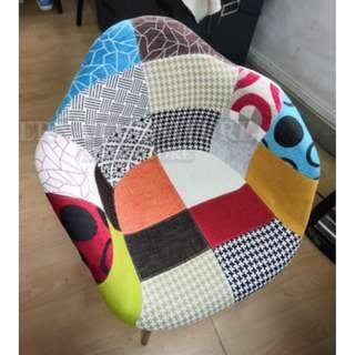 DAW colorful Arm rest Patched Dinning chair